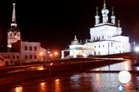 Подсветка церквей Соликамске